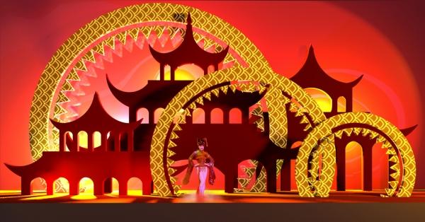 Сцена к фестивалю китайской культуры