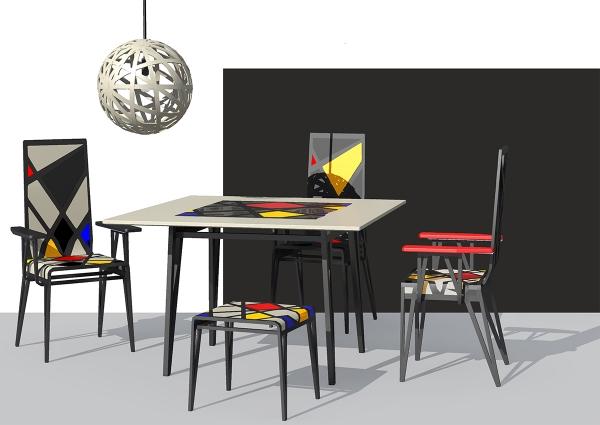 Проект комплекта мебели «Мондриан»