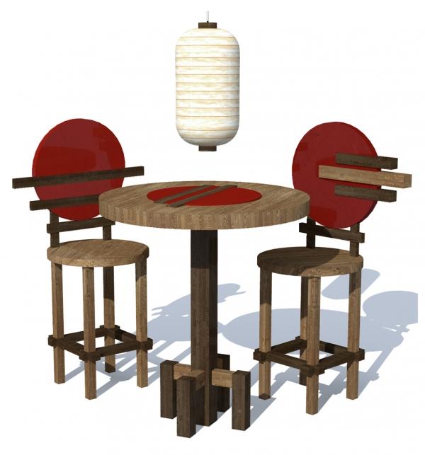 Проект комплекта мебели «Хи Акай»