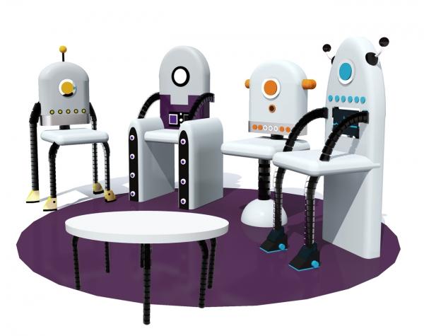 Комплект детской мебели «Роботы»