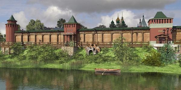 Рекреационные зоны в исторической части Коломны