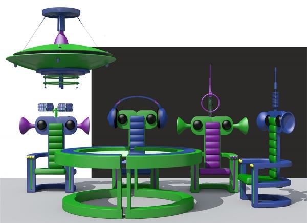Проект комплекта мебели «Зеленые человечки»