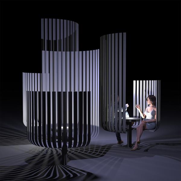 Эскизный проект арт-объекта «Скамейки тет-а-тет»