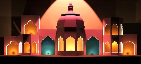 Сцена к фестивалю индийской культуры