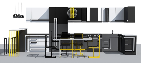 Проект кухонной мебели «Лабиринт»