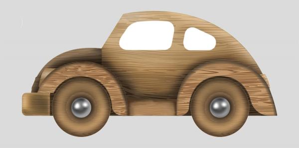 Стилизация автомобиля Volkswagen (игрушка)