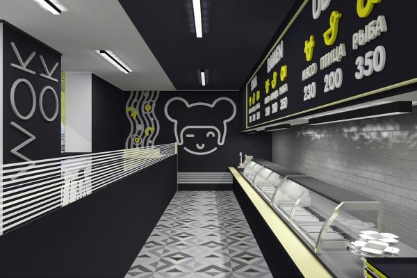 Интерьеры кафе быстрого питания «WokOk»