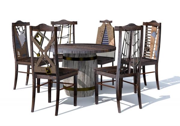 Проект комплекта мебели «Пятнадцать человек на сундук мертвеца»