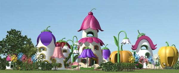 """Детская площадка """"Цветочный город"""""""