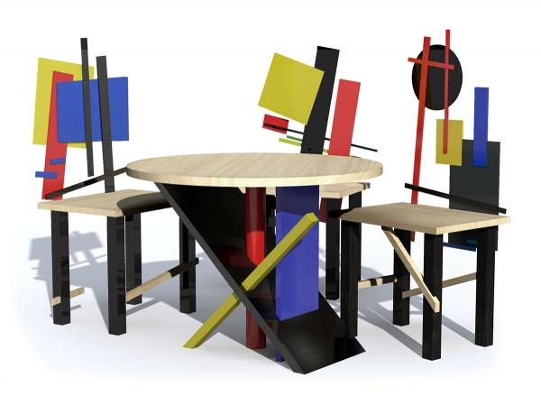 Проект комплекта мебели «Супрематизм»